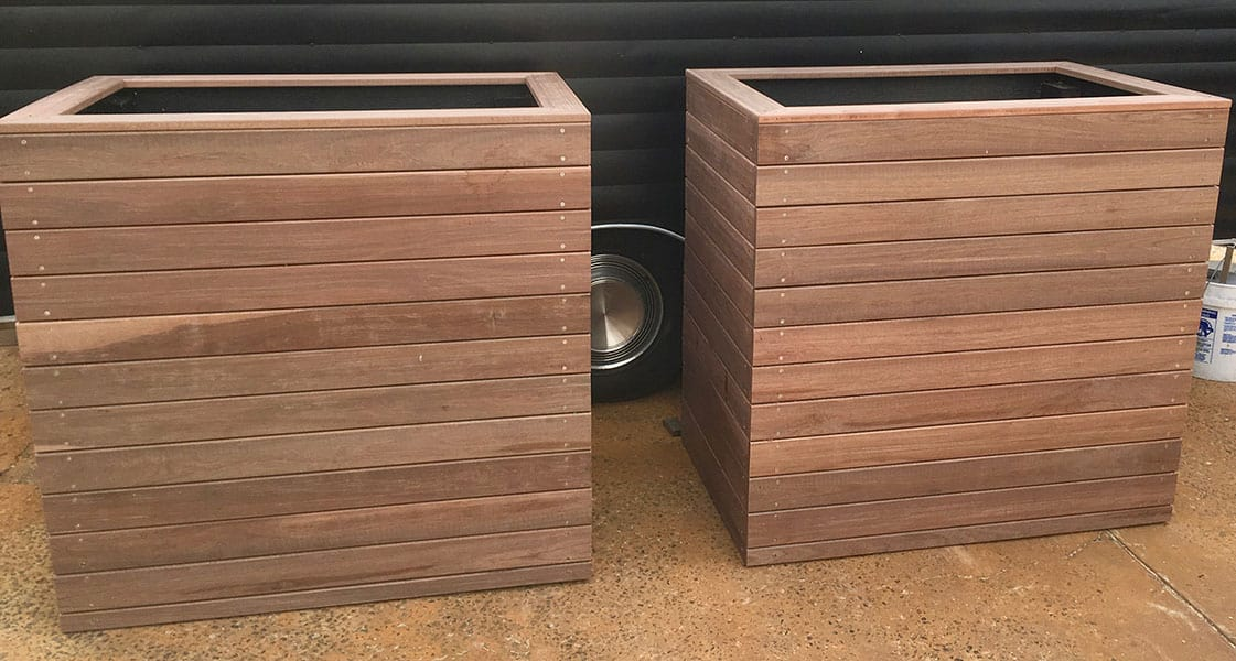 Timber Planter Boxes in the Northern Beaches