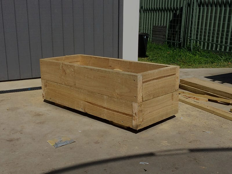 Planter Box Being Built