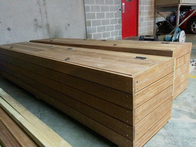 Twin Timber Planter Boxes