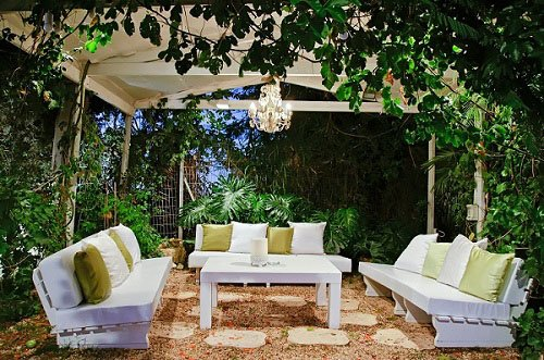backyard seating area designed in Sydney