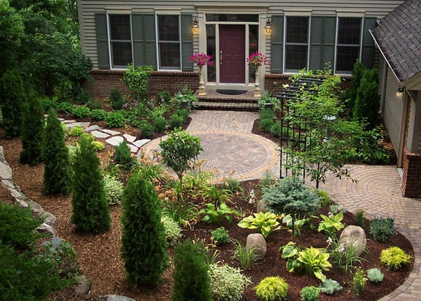 frontyard landscaping in Newport