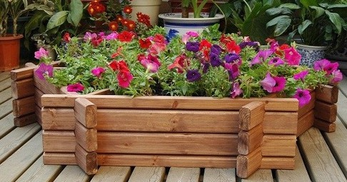 beautiful wood planter sydney