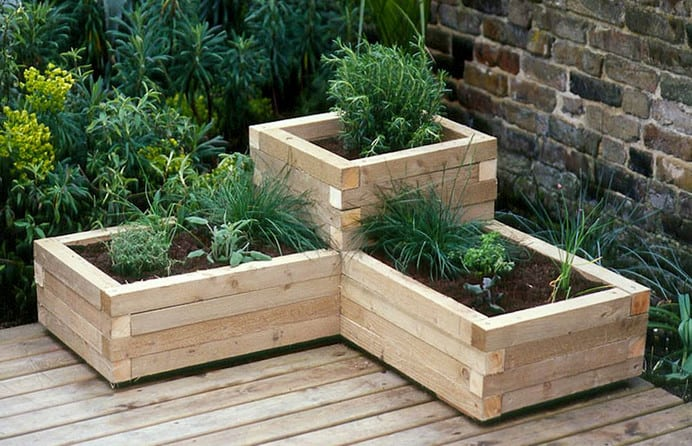 wooden planter box design