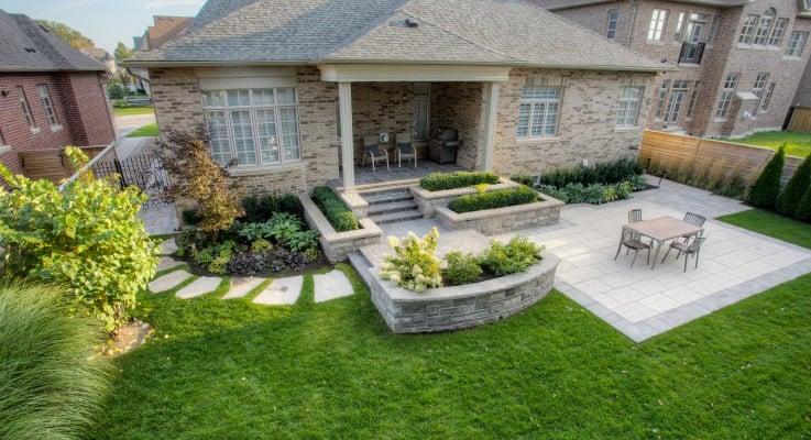 Yard Landscaping by NBG Landscapes