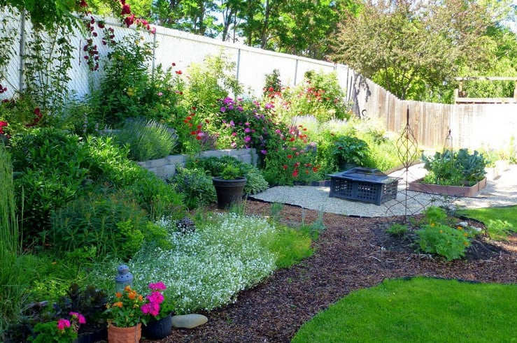 Landscaping Ideas For Small Areas on Patio And Gravel Garden Ideas id=97443