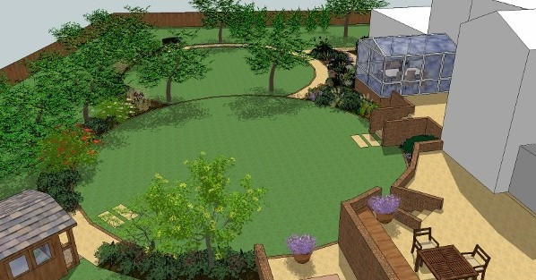 Landscape design 3d landscape design 3d model for Garden design 3d mac
