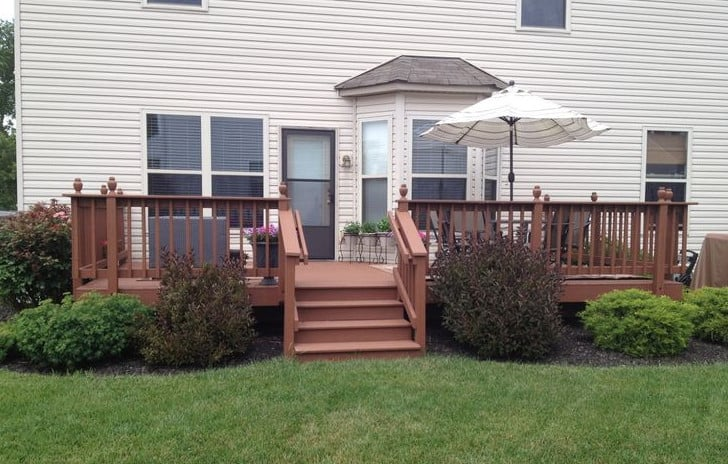 landscape design around deck