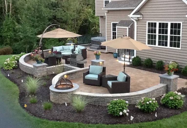 landscaping ideas around patio
