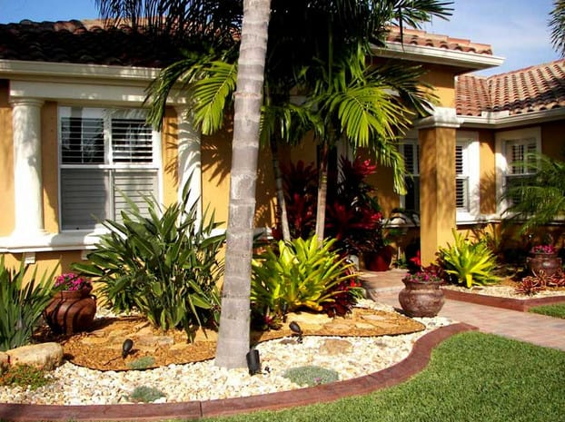 Landscaping Ideas Around Trees on Palm Tree Backyard Ideas id=92485
