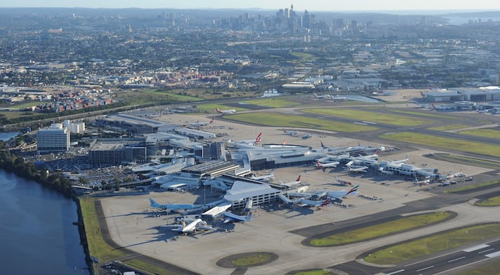 Sydney Airport Top View