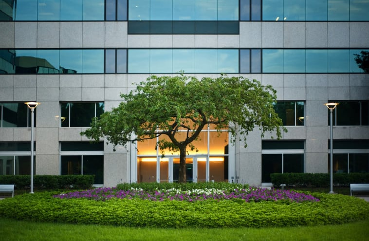 commercial entryway landscape ideas