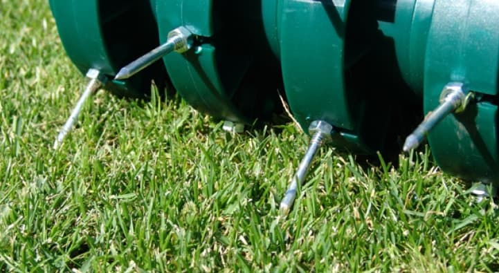 spiked roller for aerating lawn