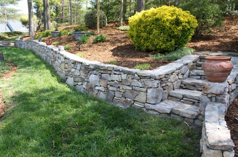building a small retaining wall