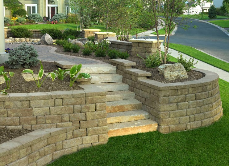 inexpensive retaining wall ideas