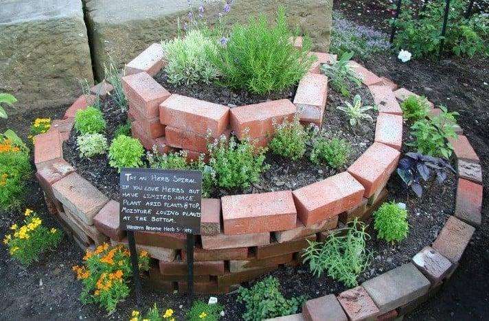 brick herb spiral