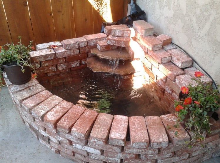 brick waterfall for your garden