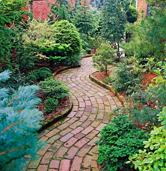 garden brick pathway
