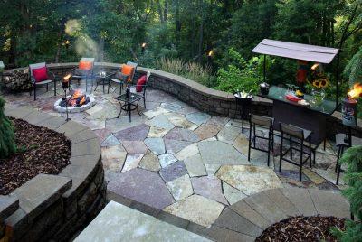 bakcyard paver design ideas for party area