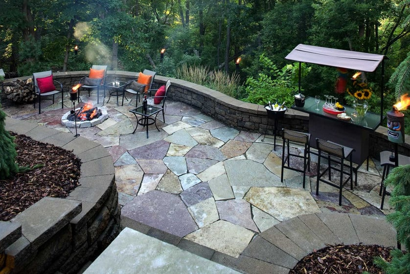 bakcyard paver design ideas for party area