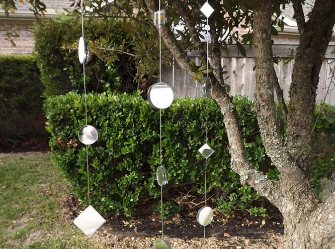 cheap hand made mirrored landscape ornaments
