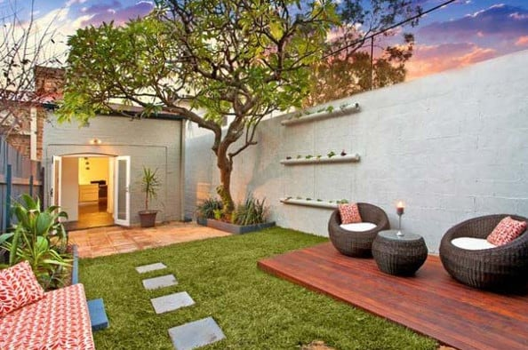creative landscape design for small backyards