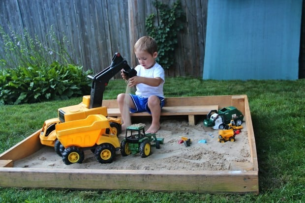 backyard sandbox for kids