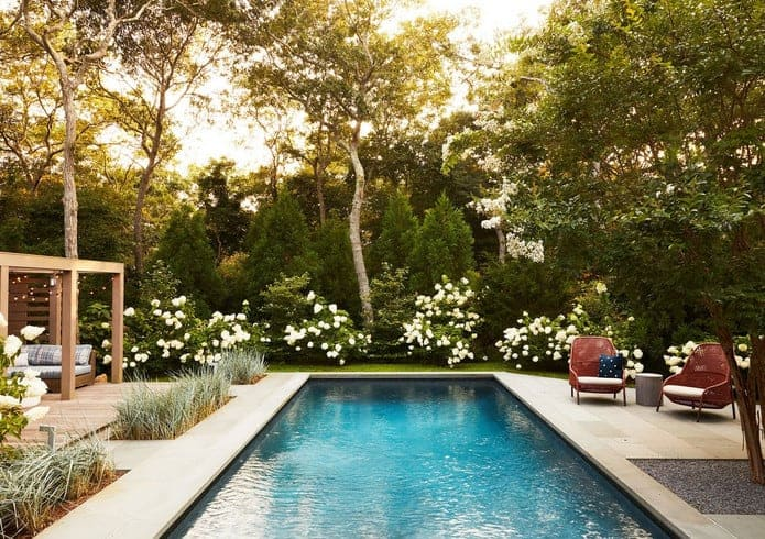 chic backyard patio ideas with pool