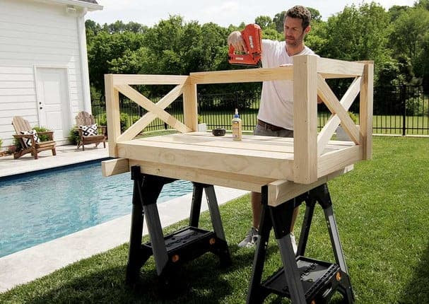 diy crib mattress porch swing