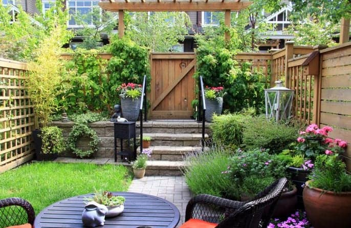 fenced patio for your yard