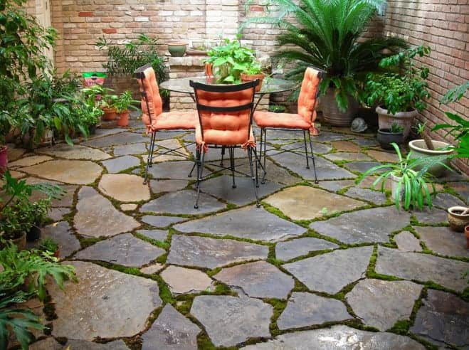 flagstone patio for your backyard