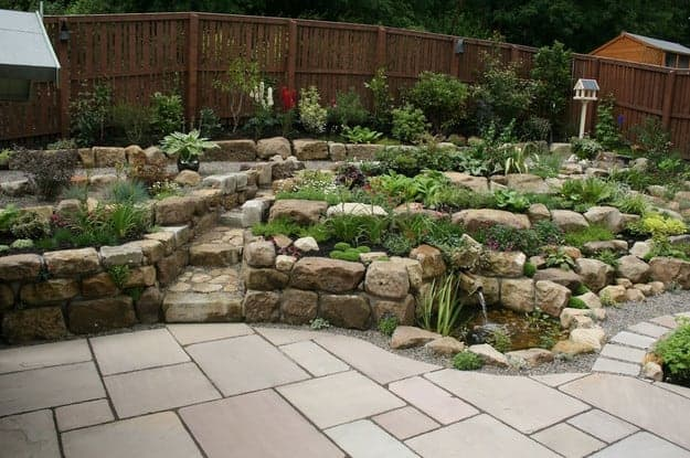 landscaping with sandstone