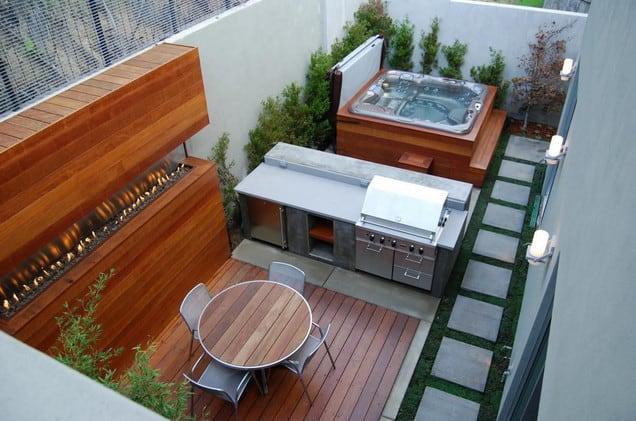 outdoor kitchen setup